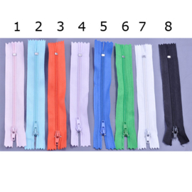 Rits 12 cm - in 8 kleuren - niet deelbaar - D12404