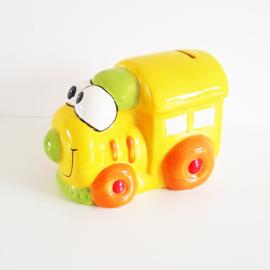 Spaarpot locomotief geel - WD00079c