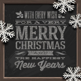 Servet Merry Christmas - 5 stuks - D13139