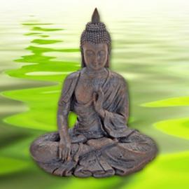 Zittende Boeddha bruin 30x11x25 cm - WD00019