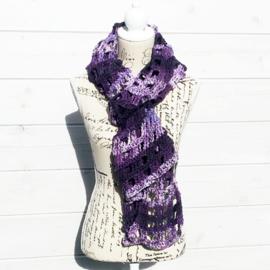 Window Pane sjaal paarstinten - H00044b