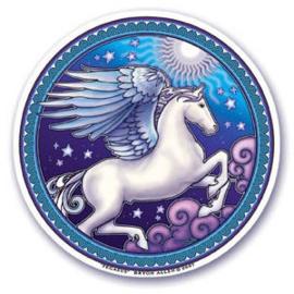 Raamsticker dubbelzijdig - Pegasus - D11102