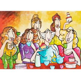 Kaart feestje wijn koffie en gebak - Sidedish - SD0024