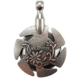 Clover garen knipper (hanger) oud zilver