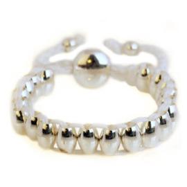 Lulu armband zilver/wit - S11008