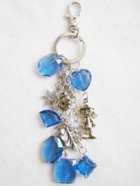 Sleutelhanger of tashanger blauw - D10172
