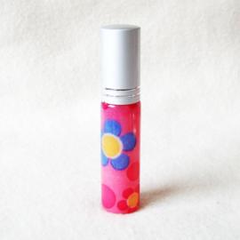 Parfumverstuiver roze met gekleurde bloemen - D11599t