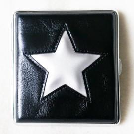 Sigarettenkoker zwart met zilverkleurige ster - D12719