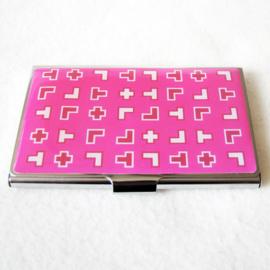 Visitekaartjesdoosje roze - D11741