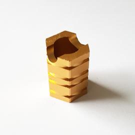 Sigarettendover hexagon goudkleur - D13250