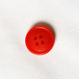 Knoop rood 15 mm - D12085
