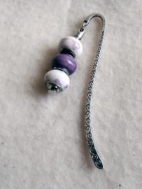 Boekenlegger Pandora lila/paars/creme - D10613