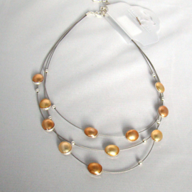 Ketting champagne/bruin - S11081