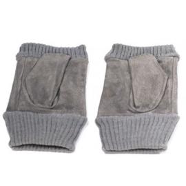Vingerloze handschoen grijs - D13016