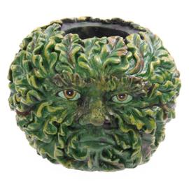Theelichthouder groene man - D10931