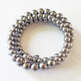 Armband grijze parels - S10869a