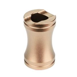 Sigarettendover aluminium champagne - D14051