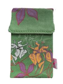Smokeshirt groen met bloemenprint