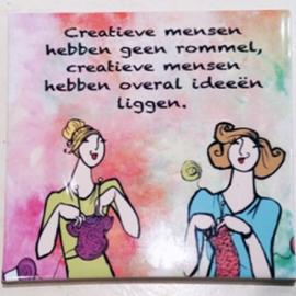 Tegel 'Creatieve mensen'