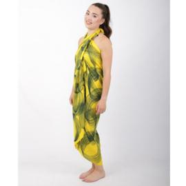 Sarong 37, geel/groen - D12977