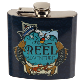 Flask Vissen 'Reel adventure' - D13287