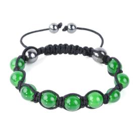 Shamballa armband groen - S10779
