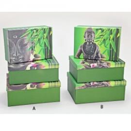 Dozenset met boeddha (3 dozen in 1) - WD00061