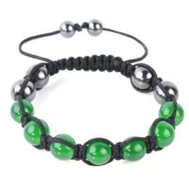 Shamballa armband groen - S10784