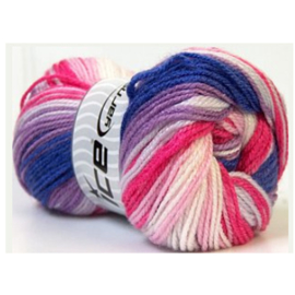 Ice Yarns Dancing Baby paars/roze/wit