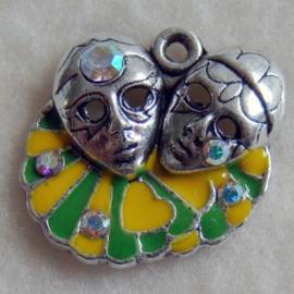 Bedel masker geel groen - S10287