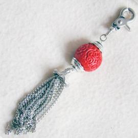 Sleutelhanger of tashanger rood - D10456