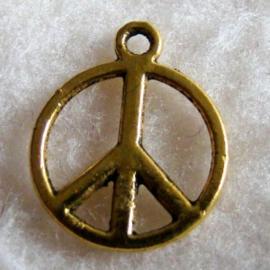 Bedel vredesteken oudgoudkleur - S10436