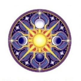 Raamsticker dubbelzijdig - Celestial Mandala - D11100