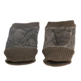 Vingerloze handschoen donkerbruin - D13018
