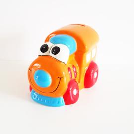 Spaarpot locomotief oranje - WD00079a