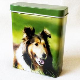 Sigarettendoosje hond (collie) - D12264