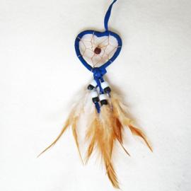 Dromenvanger hartje 5 cm donkerblauw - D10882g