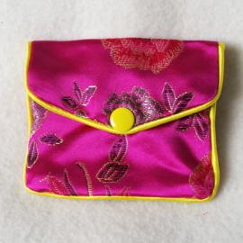 Chinees geldbuideltje roze - D12777