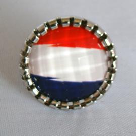 Verstelbare ring rood/wit/blauw - S10884