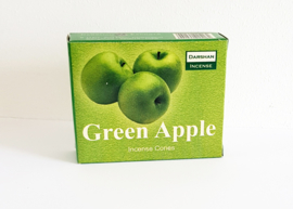 Darshan wierookkegeltjes Green Apple - O10145