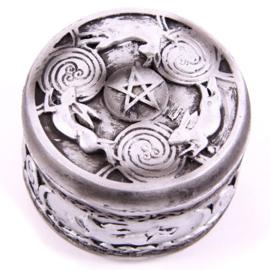 Bewaardoos pentagram/maan/haas - D10923