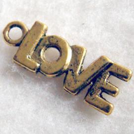 Bedel 'love' oudgoudkleur - S10428