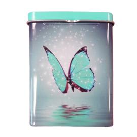 Sigarettendoosje vlinder blauw