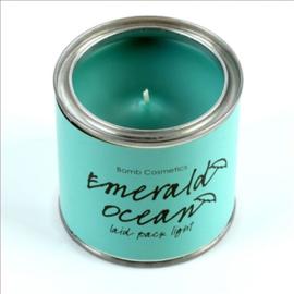 Geurkaars Emerald Ocean in blik - BOMB Cosmetics