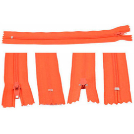 Rits 19 cm - oranjerood - niet deelbaar - D12391