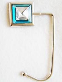 Tashaak vierkant facet blauw - D10097