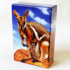 Sigarettendoosje kangaroo donkerblauw - D12272