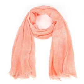 Sjaal met spuitprint zalm - D14082