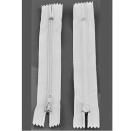 Rits 14,5 cm - wit - niet deelbaar - D12402