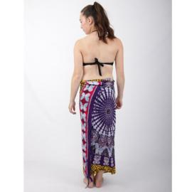Sarong 31, vlinders paars/blauw/geel/rood/wit - D12985